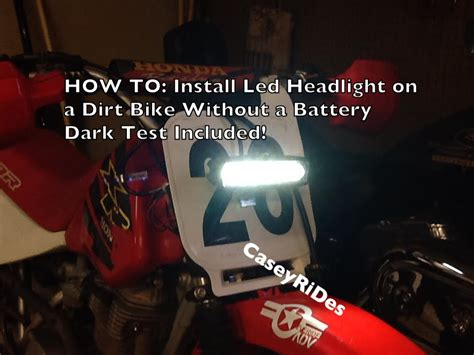 How To Install A Led Headlight On A Dirt Bike With No How To Install Led Lights On A Motorcycle