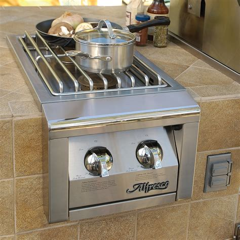 side burners for outdoor kitchens alfresco built in 14 in side burner agsb 2 axesb