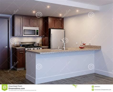 Modern Kitchen Island Designs mini kitchen stock illustration image of light indoors