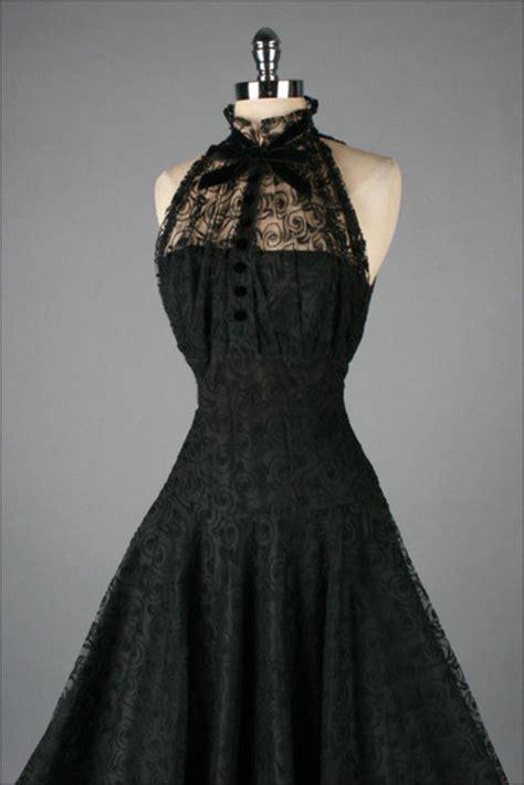 Vitage Black dress black vintage dress black dress wheretoget