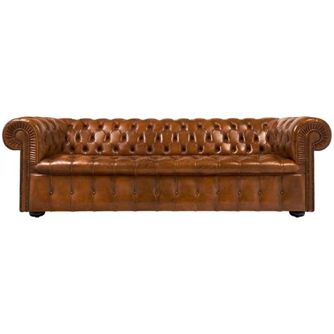 Vintage Chesterfield Sofas by Vintage Cognac Leather Chesterfield Sofa At 1stdibs