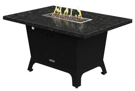Rectangular Gas Pit Rectangular Pit Table 52x36x1 5 Gas Black