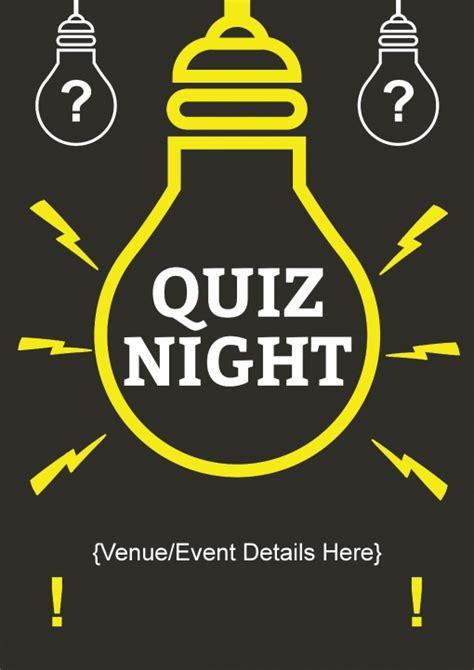quiz night layout quiz light bulb