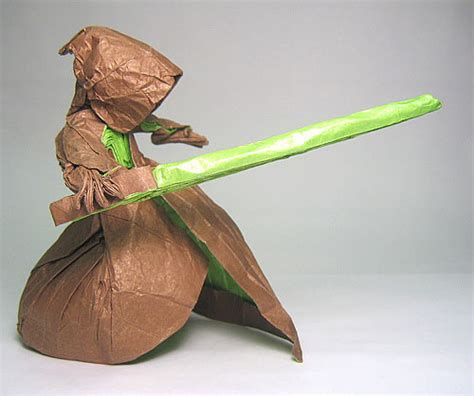 Wars Origami Lightsaber - wars in paper pix o plenty