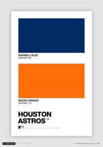 astros colors color swatch baseball pantone chips of every mlb team s
