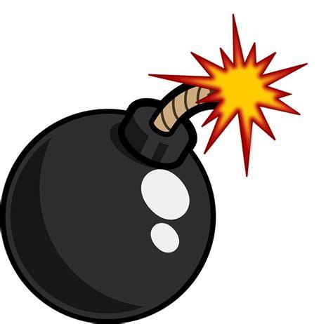 bomb cartoon  vector graphic  pixabay