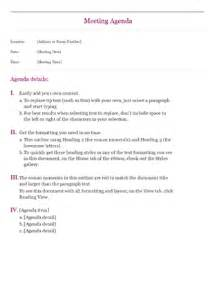 robert of order agenda template classic meeting agenda office templates