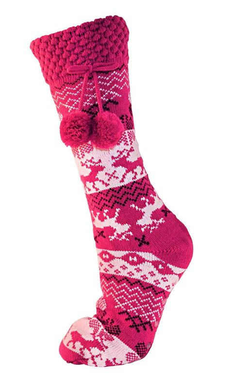 non slip slipper socks womens fleece fur lined slipper socks thermal non