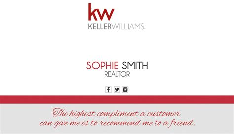 Keller Williams Buisness Card Template by Keller Williams Business Cards Keller Williams Business