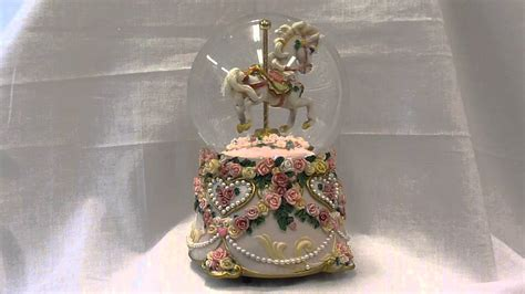 balmwg 004 turning ballerina musical snow globe plays serenade by shubert carousel musical snow globe t