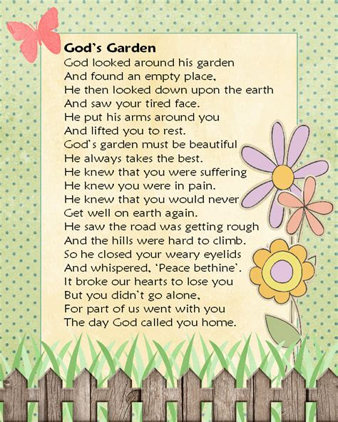 Garden Poems by Gardening Gods Way Poem The Knownledge