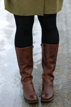 fall style 2013 on brown boots tights and