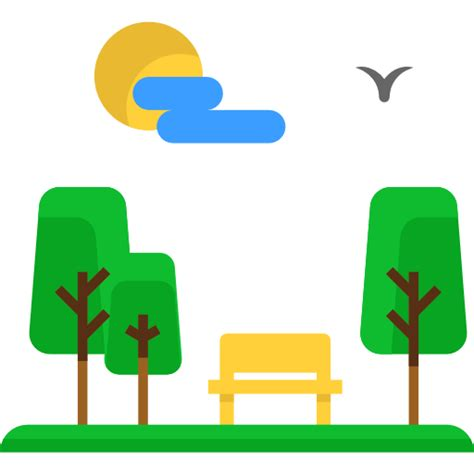 Park Bench Icon Park Free Nature Icons