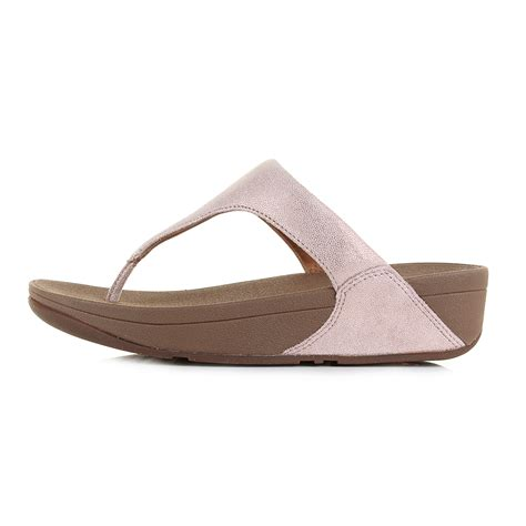 flip flop wedge sandals womens fitflop shimmy suede gold low wedge flip flops