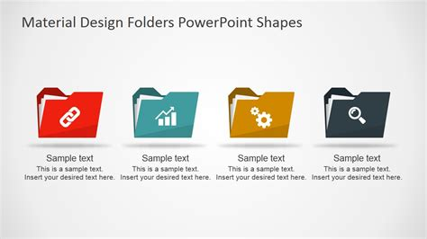 powerpoint template file material design folders powerpoint shapes slidemodel