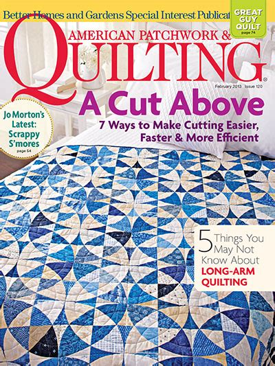Quilting American Patchwork Magazine - subscribe to country gardens magazine