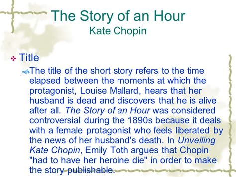 story of an hour thesis kate chopin the story of an hour essay botbuzz co