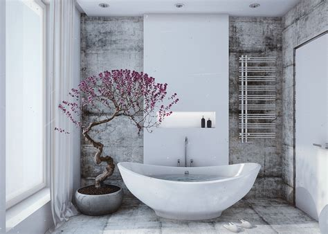 Bathroom Accents Ideas White Bathroom Violet Accents Interior Design Ideas