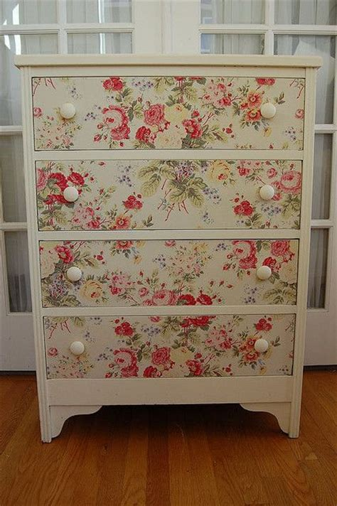 Decoupage Furniture With Wallpaper - 17 best ideas about decoupage dresser on chest
