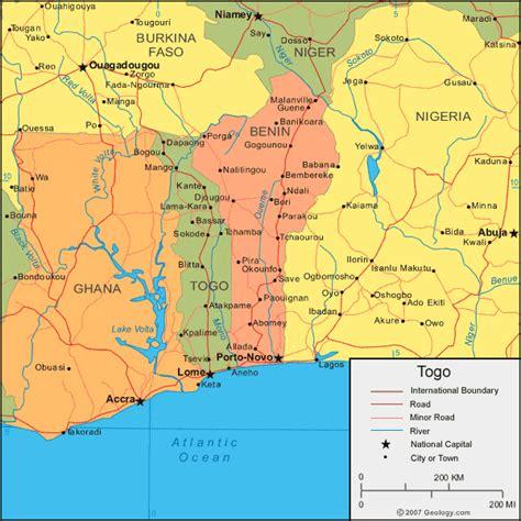 political map of togo political map of togo africa
