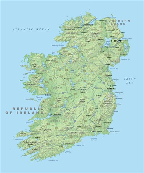 ireland physical map the base map is from vector world maps models picture