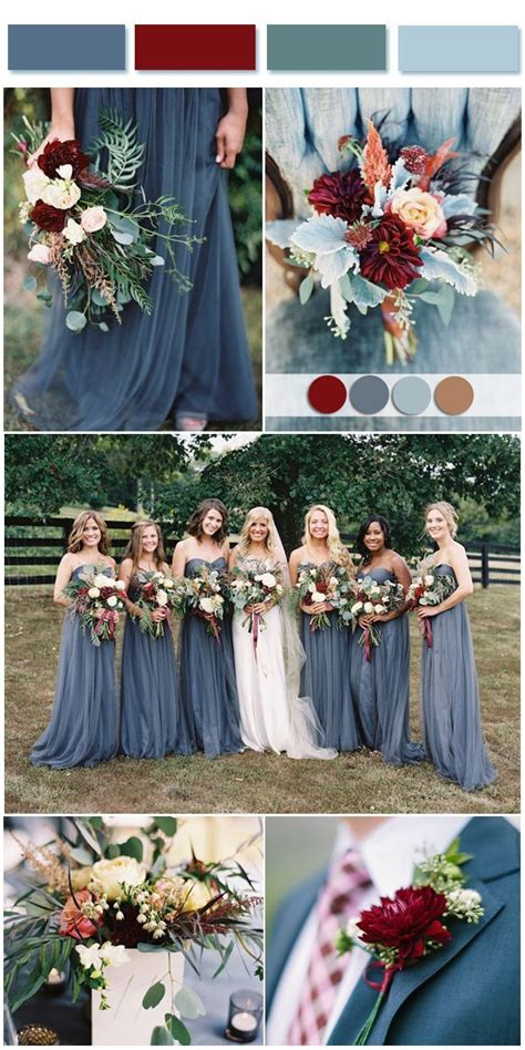 dusty blue wedding color combos inspired by 2017 pantone happily after wedding