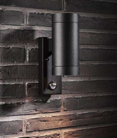 up and lights with sensor pir exterior up wall light