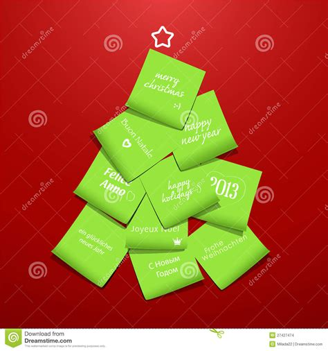 post it christmas tree tree made from post it stock images image 27427474