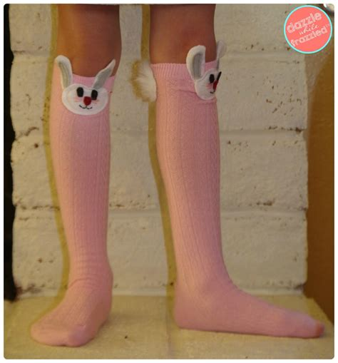 diy knee high socks from tights diy easter bunny knee high socks favecrafts