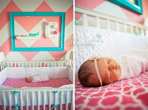 coral and aqua little girls bedroom future little munchkins pinterest