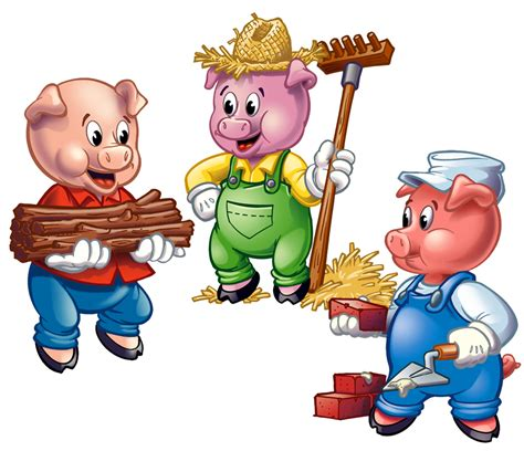 Three Little Pigs Clipart