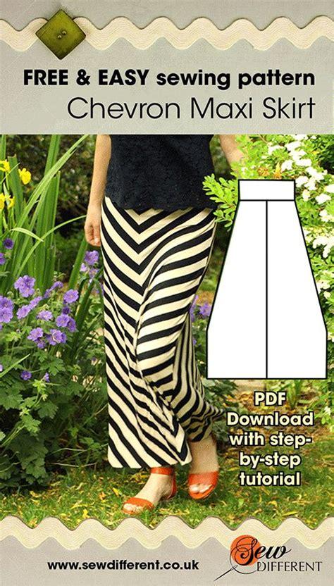 pattern free maxi skirt chevron maxi free sewing pattern sewing patterns