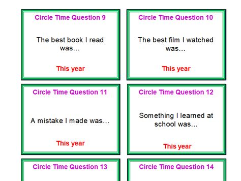 Affirmation Card Templates by Ks1 Ks2 New Year New Me Set Of Circle Time Reflection