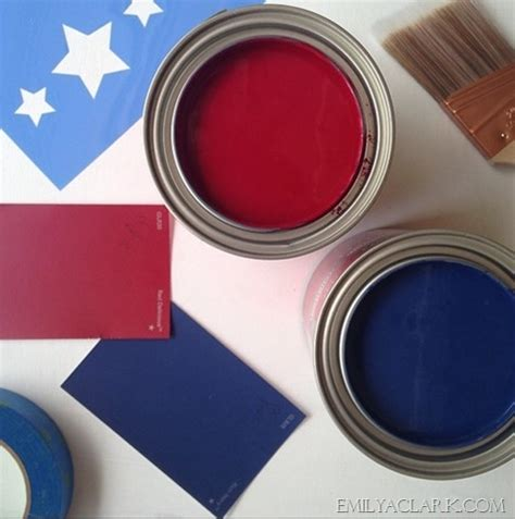 diy painted american flag emily a clark