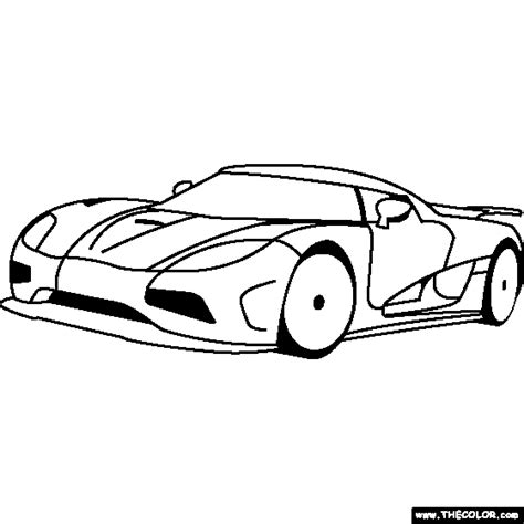 Koenigsegg Agera R Coloring Pages how to draw agera r