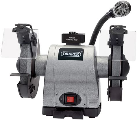 draper bench grinder draper 05097 gd825l 200mm 550w 240v heavy duty bench