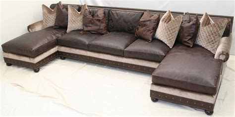 large chaise sectional large double chaise sectional sofa