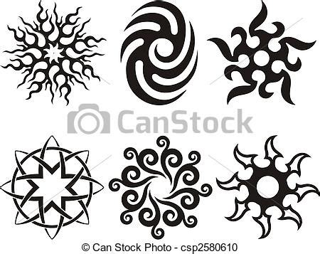 vector clipart of tribal sun symbolic celtic sun