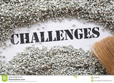 challenges in the world challenges treasure word series stock photos image