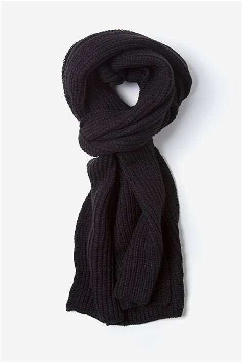 Scarf Black black acrylic kingston knit scarf scarves