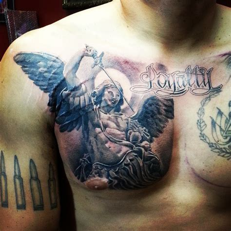 angel tattoos on chest 50 motivational tattoos designs on chest