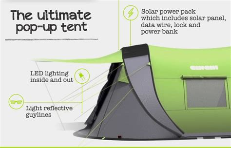 pop up solar lights cinch generation pop up tent includes solar power and