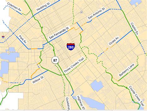 san jose bike map east san jose bikeway plan scrutinized park avenue