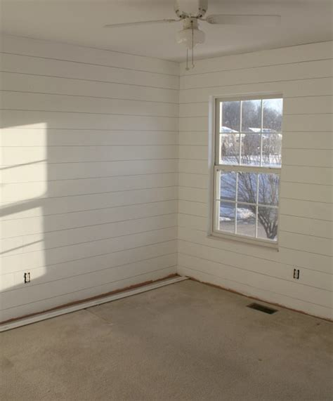 How to hang fake shiplap paneling hooked on houses bloglovin