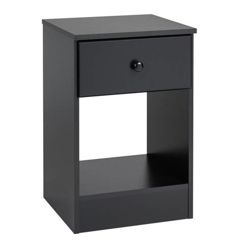 L For Nightstand 1 Drawer Nightstand In Black Bdnh 0401 1