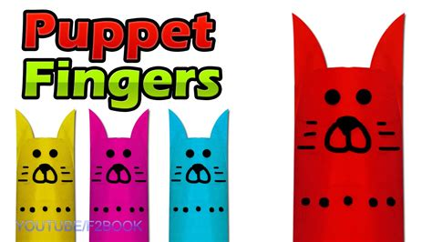 How Do You Make Paper Fingers - finger puppets make your own easy paper f2book