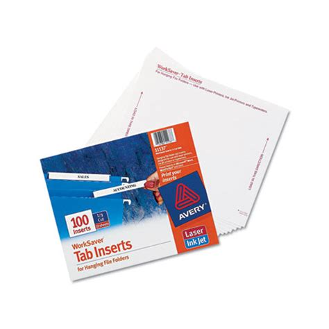 Avery Laser Inkjet Hanging File Folder Inserts Ave11137 Shoplet Com Hanging Folder Tab Template
