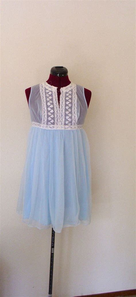 A01183 Dress Jumbo Marlyn Xl sky blue sheer baby doll peignoir robe and nightgown sky