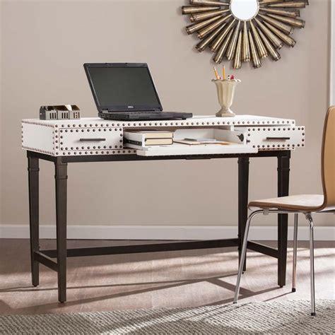 Leather Computer Desk Southern Enterprises Faux Leather Computer Desk In