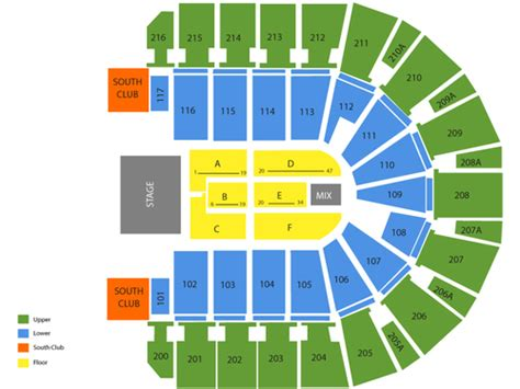 iwireless center seating view taxslayer center seating chart events in moline il